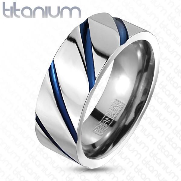 Ring Titan Streifen blau