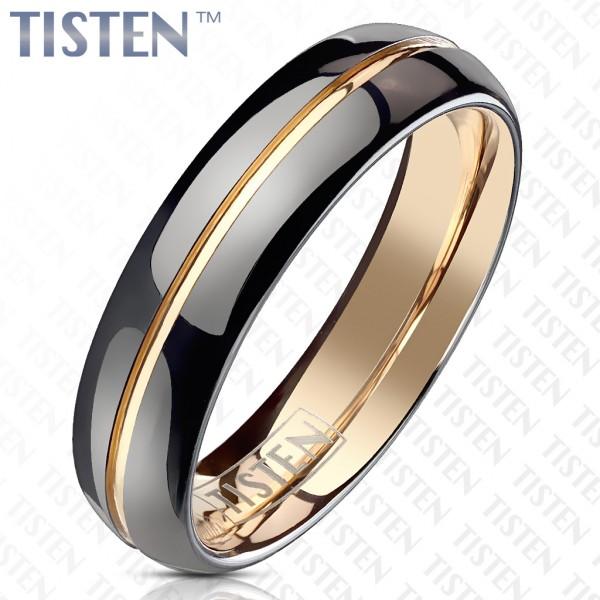 Ring Tisten schwarz rosegold