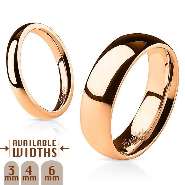 316L Chirurgenstahl Roségold Ring viele Größen