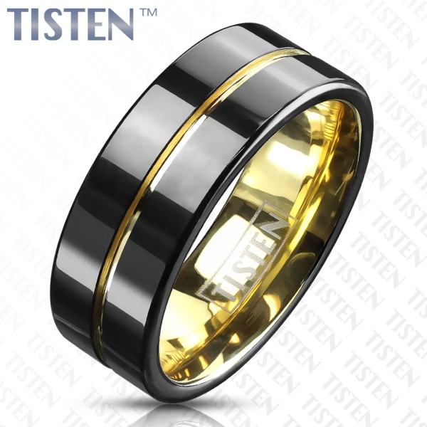Ring Tisten schwarz gold
