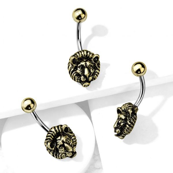 Goldener Löwe Bauchnabelpiercing