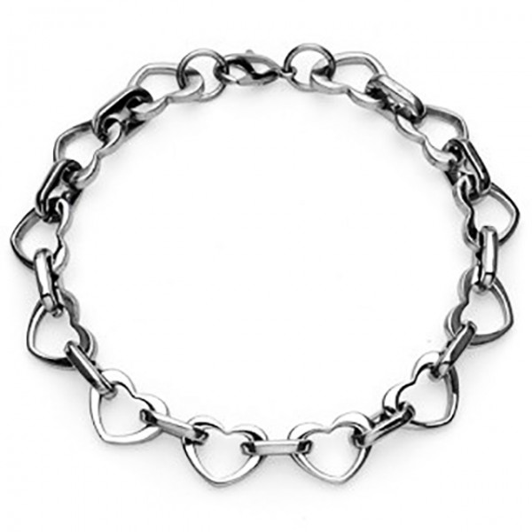 Multi-Link Herz Ring 316L Chirurgenstahl Armband