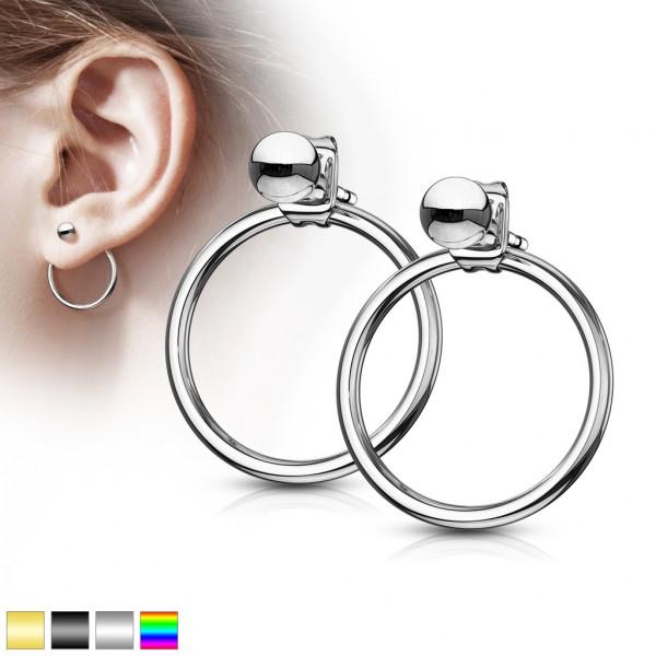 ein Paar Ohrringe mit hohlem Kreis, 316L rostfreier Stahl