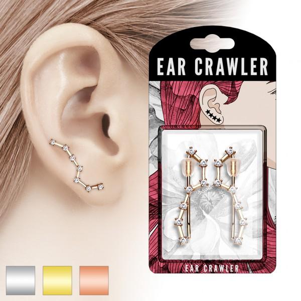 Paar Ear Cralwer Zirkonia Kette