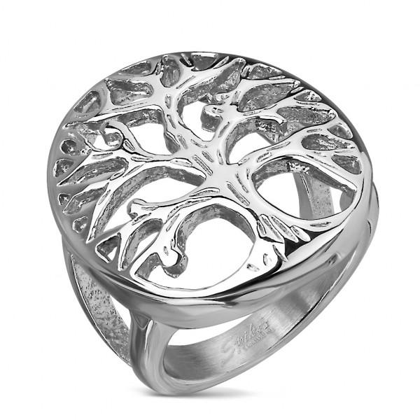 Ring Lebensbaum Silber Edelstahl