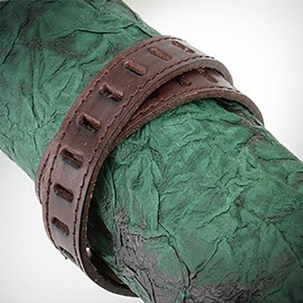 braunes Leder Doppel Verpackung mit Slit Dicut gemustert Armband