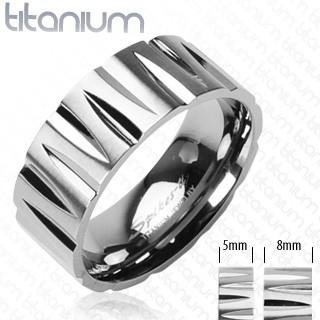 Ring Tribal Facetten Ring Titan