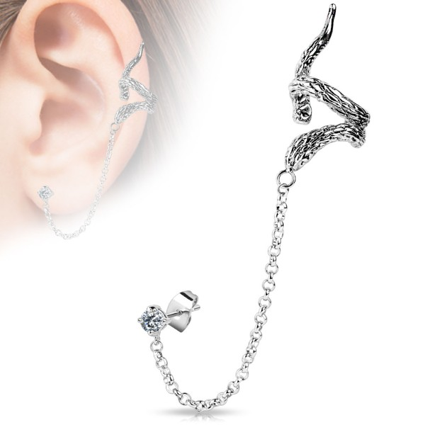 Schlange Helix Ohrring Ear Cuff Piercing Stecker