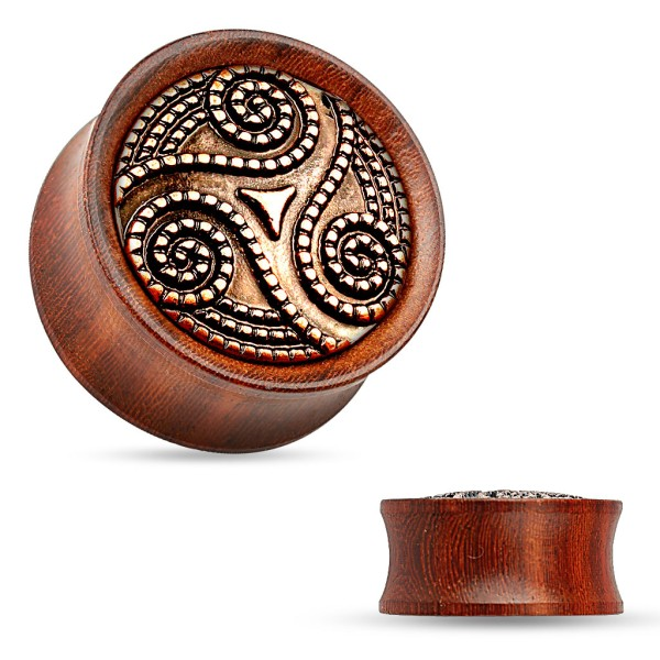 Tribal Flesh Plug Organic Holz