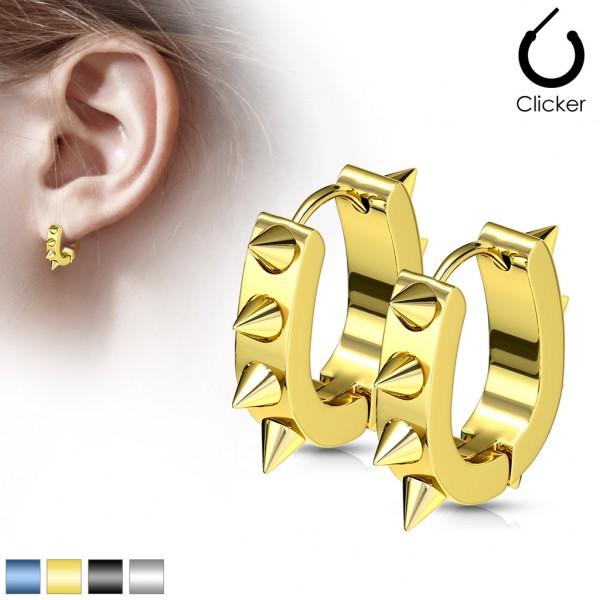 ein Paar Chirurgenstahl plattiert U geformt - Ohrringe mit Stacheln