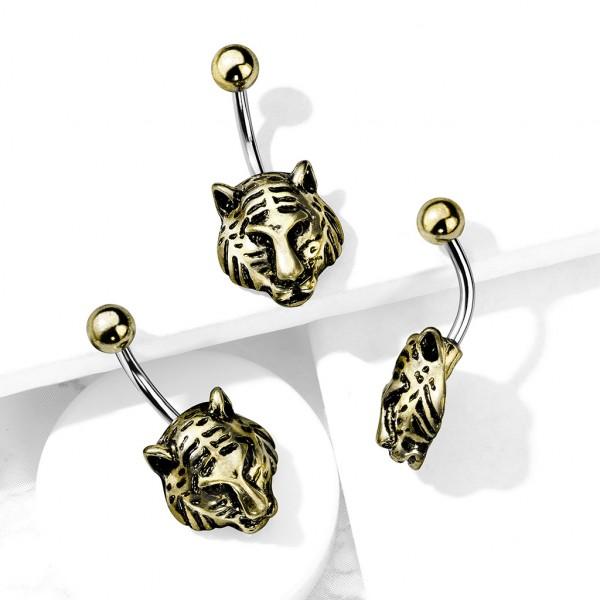 Goldener Tiger Bauchnabelpiercing