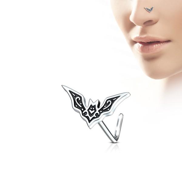 Fledermaus Nasenpiercing Nasenstecker Nasenring L-Form 316L Stahl
