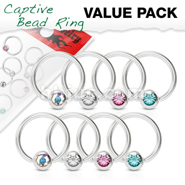 4 Paar CBR Ringe mit Kristall