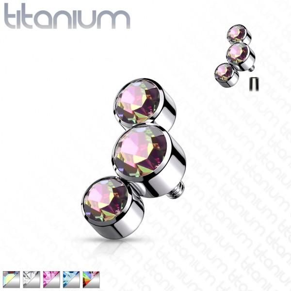 Kristall Titan Kugel Innengewinde Ersatzkugel Gewinde