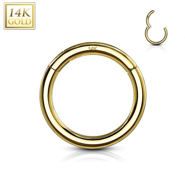 Segmentring mit Scharnier Clicker Helix Tragus Lippen Piercing 585 14 Karat Gelbgold