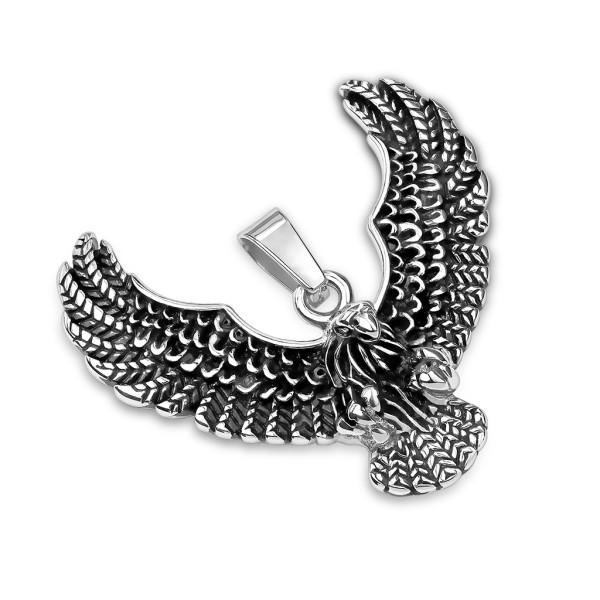 Adler Flügel Anhänger Silber Stahl