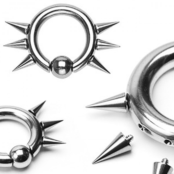 Easy Snap CBR Ring Mit Spikes