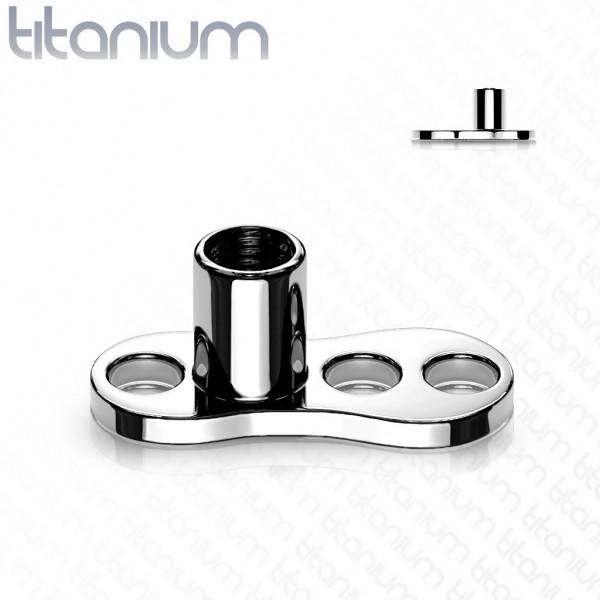 Implant Grade Titan 3-Loch Internally Threaded Dermal Anchors