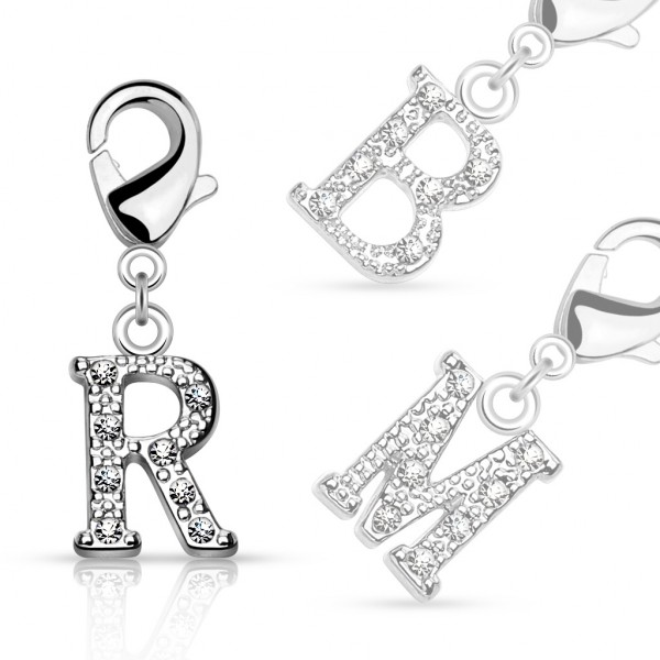 Buchstabe Anhänger Silber für Bauchnabelringe, Armbänder und mehr