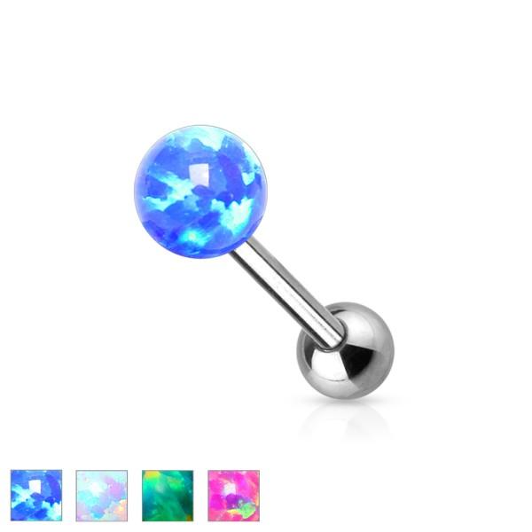 6mm Opal Kugel Innengewinde Zungenpiercing
