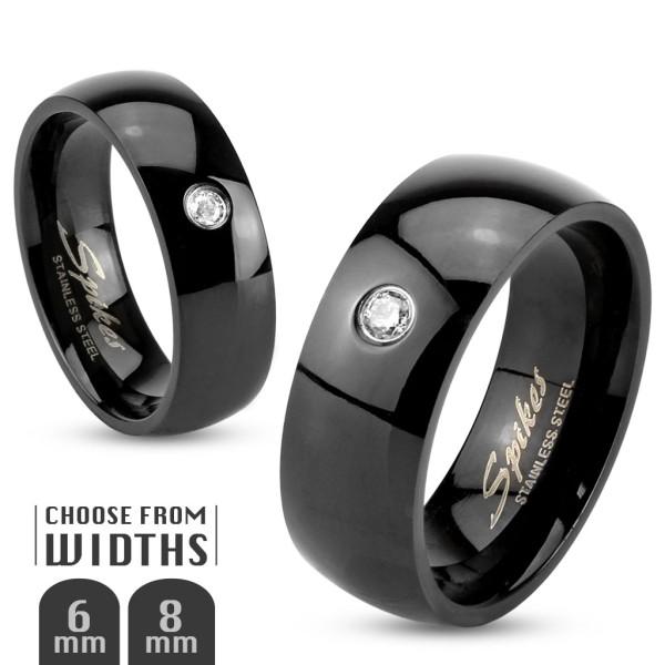 Schwarz Ring Zirkonia