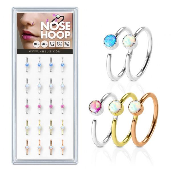 20 Stück Piercing Hoop Ring Septum in Plastik Verpackung