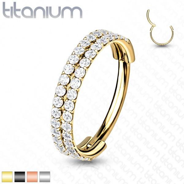 Titan Premium Segment Clicker mit zwei Reihen Kristalle