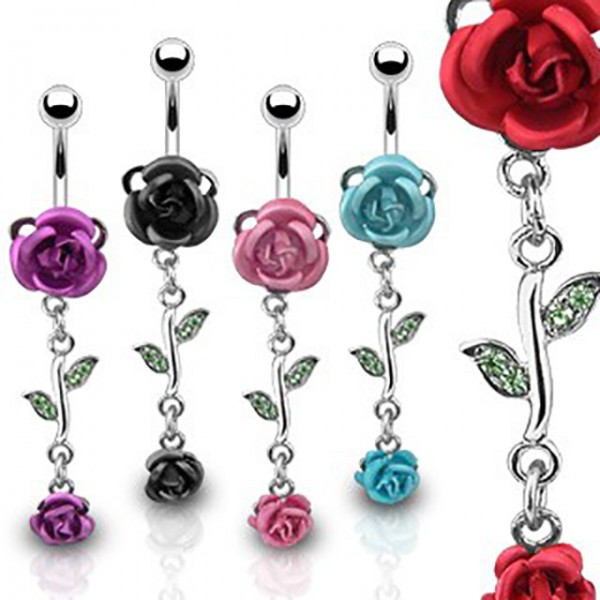Rose Bauchnabelpiercing