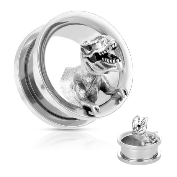 T-rex Dinosaurier Flesh Tunnel mit Gewinde Plug