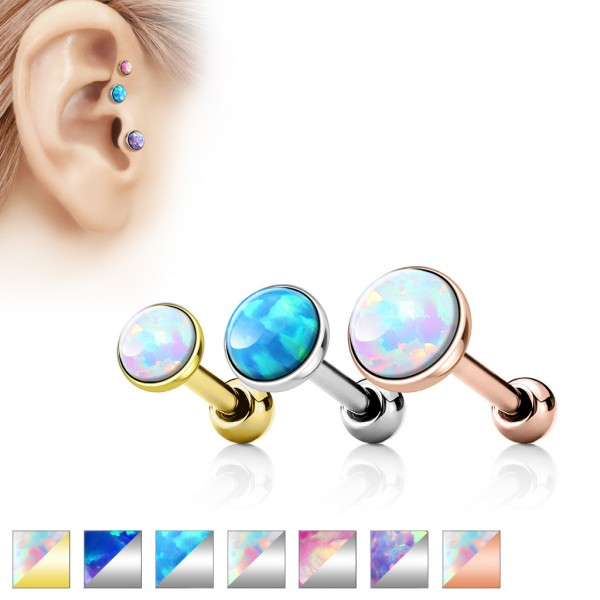 Opal Cartilage Tragus Piercing