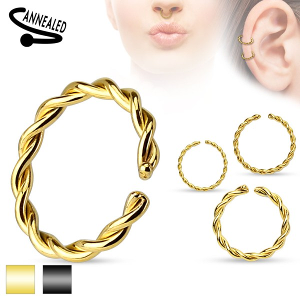 Geflochtenes Fake Piercing gold