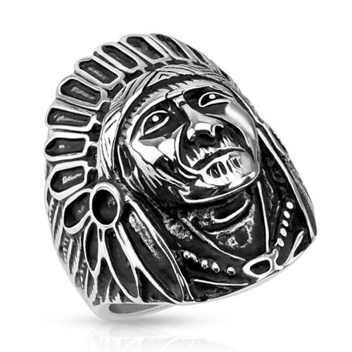 Ring Indianer 316L Chirurgenstahl