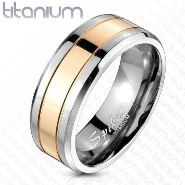 Ring Rosegold Silber Titan