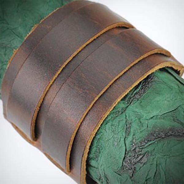 Doppel Gürtel Schnalle Lederarmband Armband Braun