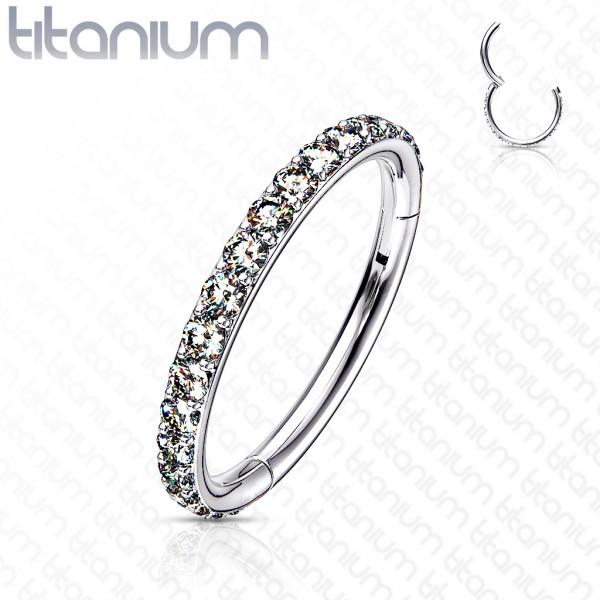 Segment Clicker Titan Hoop Ring Ohrpiercing Helix Tragus Daith Nasenpiercing Septum
