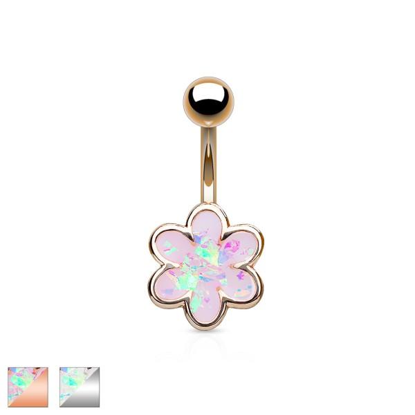 Bauchnabelpiercing Opal Blume