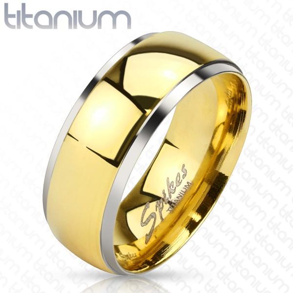 Ring Titan abgestufte Kanten gold