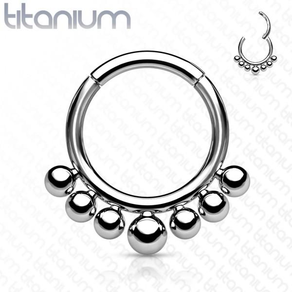 Kugeln Segment Clicker Titan Hoop Ring Ohrpiercing Helix Tragus Daith Nasenpiercing Septum