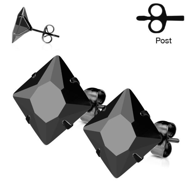 1 Paar Ohrringe schwarz plattiert