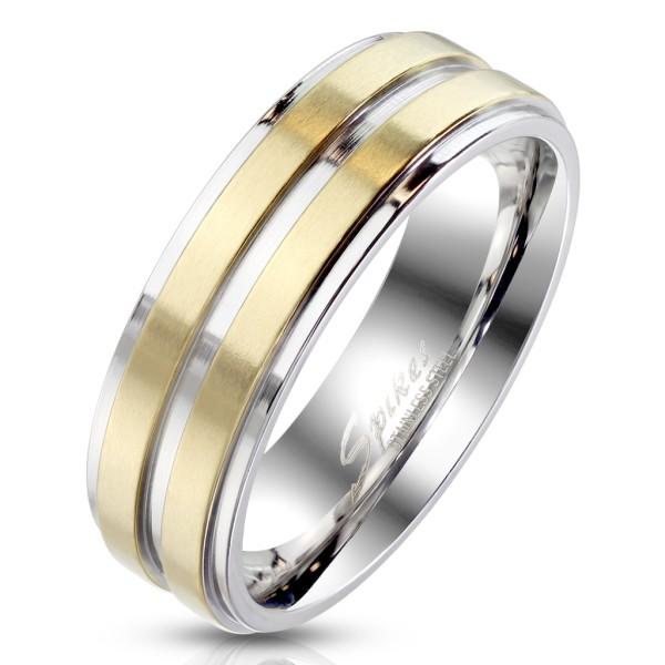 Ring gold, abgestuften Kanten, Edelstahl