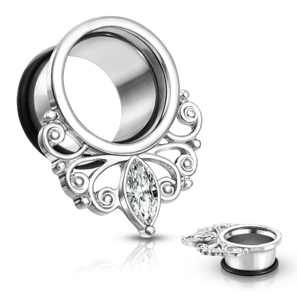 Marquise Kristall Vintage Tropfen single flare mit Ring