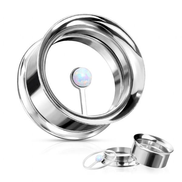 schwebender Opalstein doppelt ausgestellter Plug in Screw fit