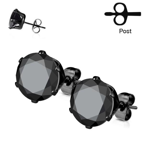 Schwarz plattierte Ohrringe 1 Paar