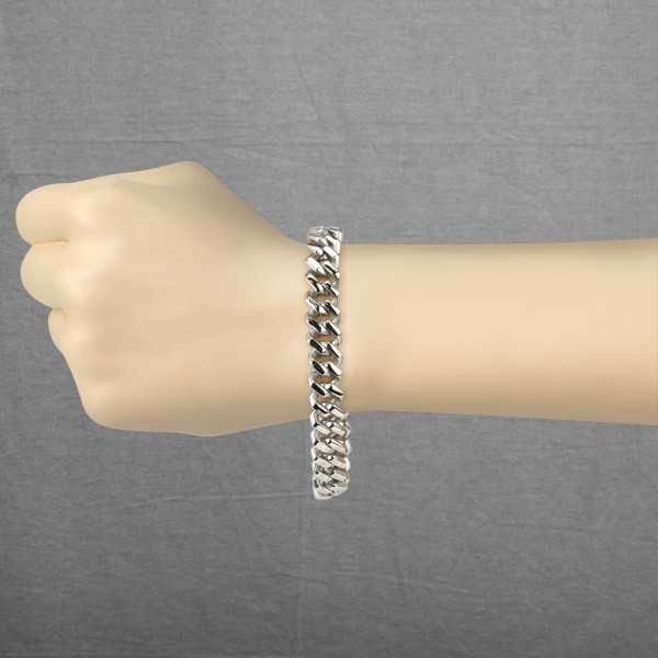 Quadrat Kettenglieder Ring 316L Chirurgenstahl Kette Armband