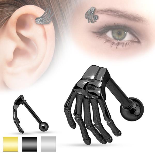Hand Augenbrauen Piercing Cartilage
