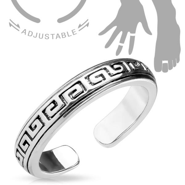 Labyrinth Muster Ring verstellbar Handring/Fußring