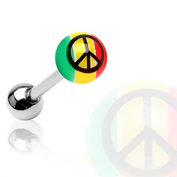 Peace Zeichen Zungenpiercing