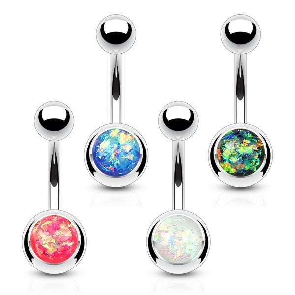 3 Stück Set Bauchnabelpiercing Opal Bauchnabelring