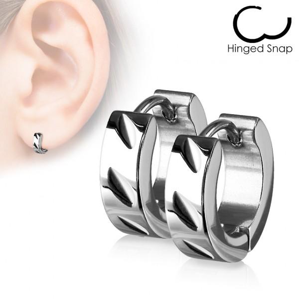DiaCut Scharnier Kreolen Ring 316L Chirurgenstahl (Sold in Pairs)
