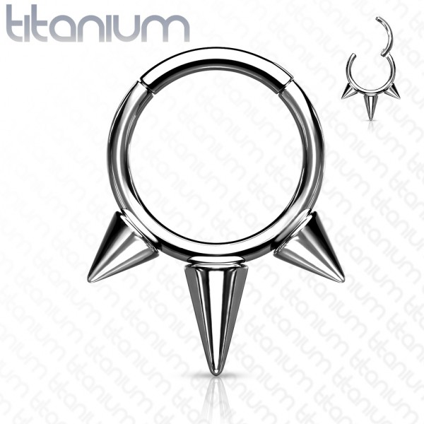 Stachel Segment Clicker Titan Hoop Ring Ohrpiercing Helix Tragus Daith Nasenpiercing Septum